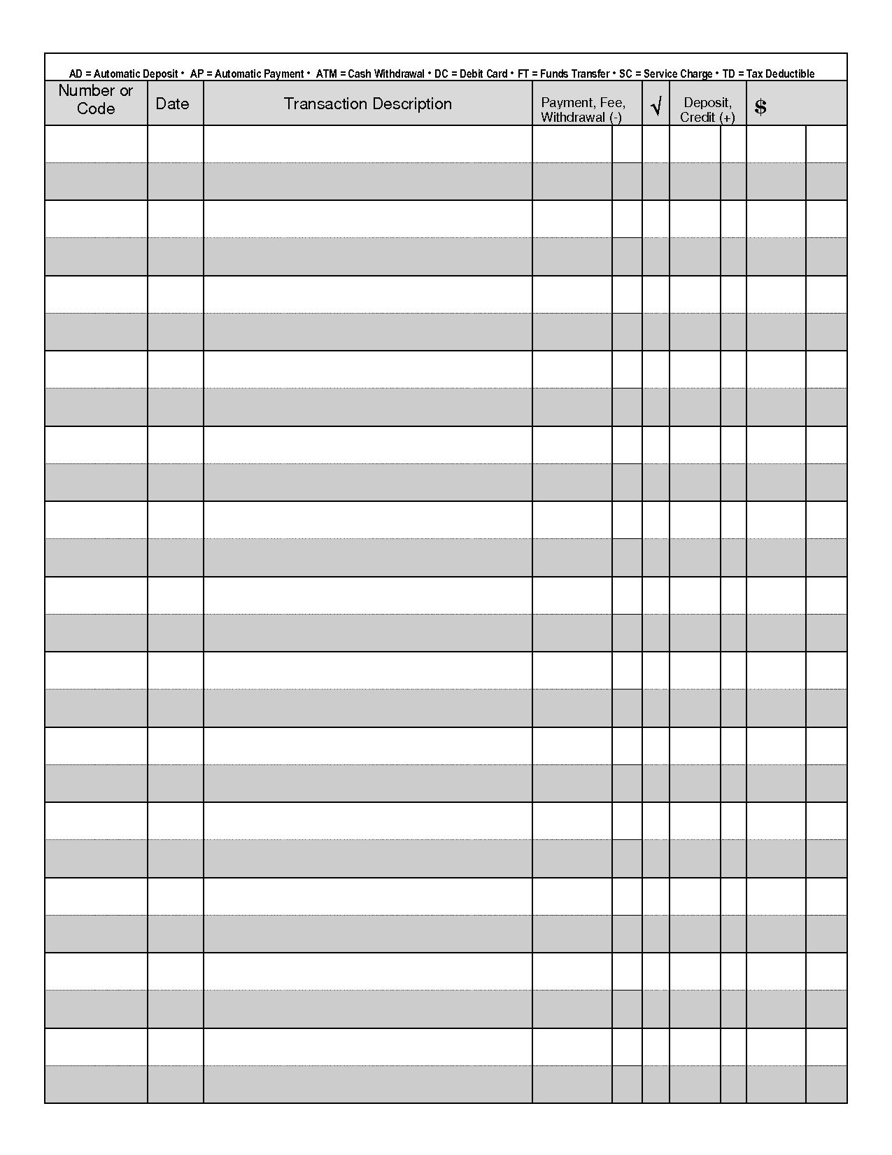Printable Check Register - When You Are Searching For Coupons They - Free Printable Transaction Register