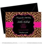 Printable Cheetah Sweet 16 Birthday Invitation Girl Birthday | Etsy   Free Printable Cheetah Birthday Invitations