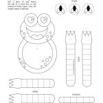 Printable Christmas Crafts Free   Print Wiggle Frog In Black And   Free Printable Craft Activities