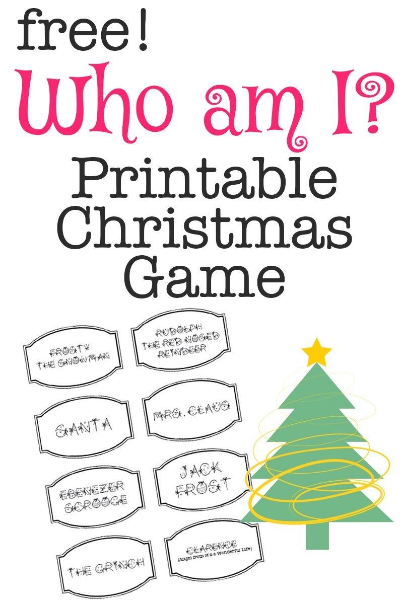Printable Christmas Game: Who Am I? | Christmas Activities 2 - Free Printable Christmas Games For Adults