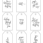Printable Christmas Gift Tags Make Holiday Wrapping Simple   Christmas Gift Tags Free Printable Black And White