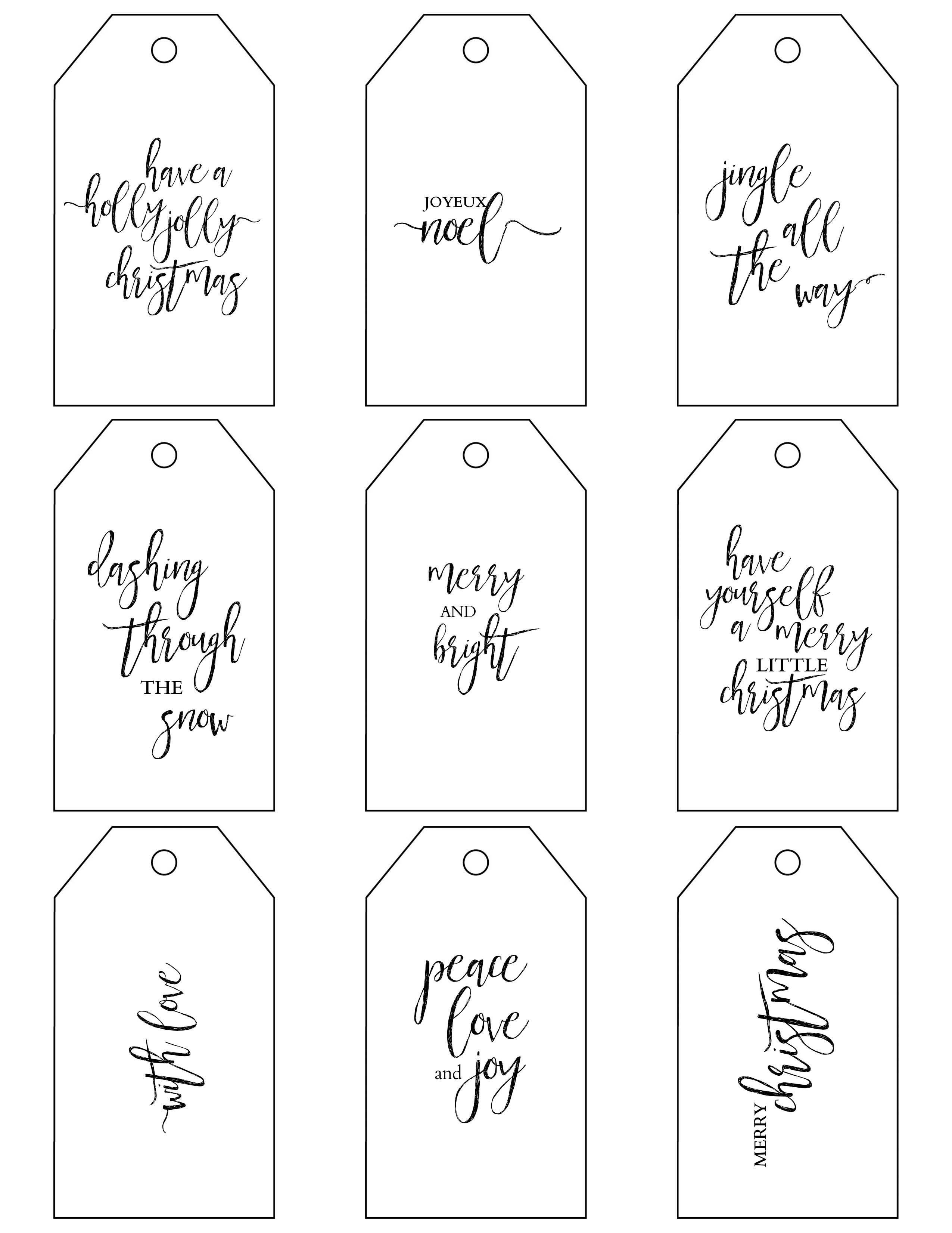Printable Christmas Gift Tags Make Holiday Wrapping Simple - Christmas Gift Tags Free Printable Black And White