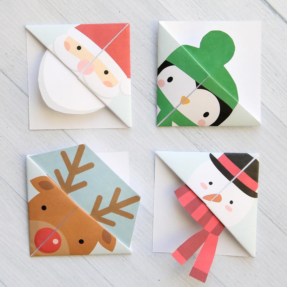 Printable Christmas Origami Bookmarks - It's Always Autumn - Free Printable Christmas Craft Templates