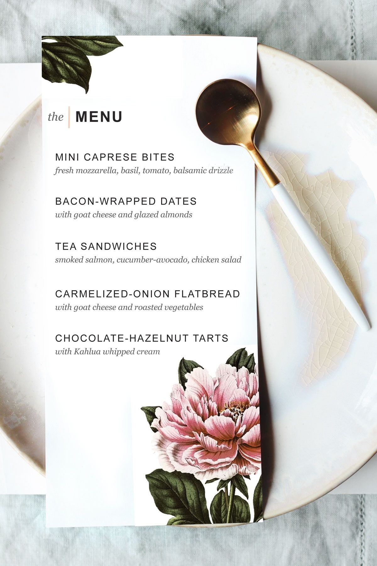 Printable Dinner Party Menu Template   Party Planning   Wedding Menu - Design A Menu For Free Printable