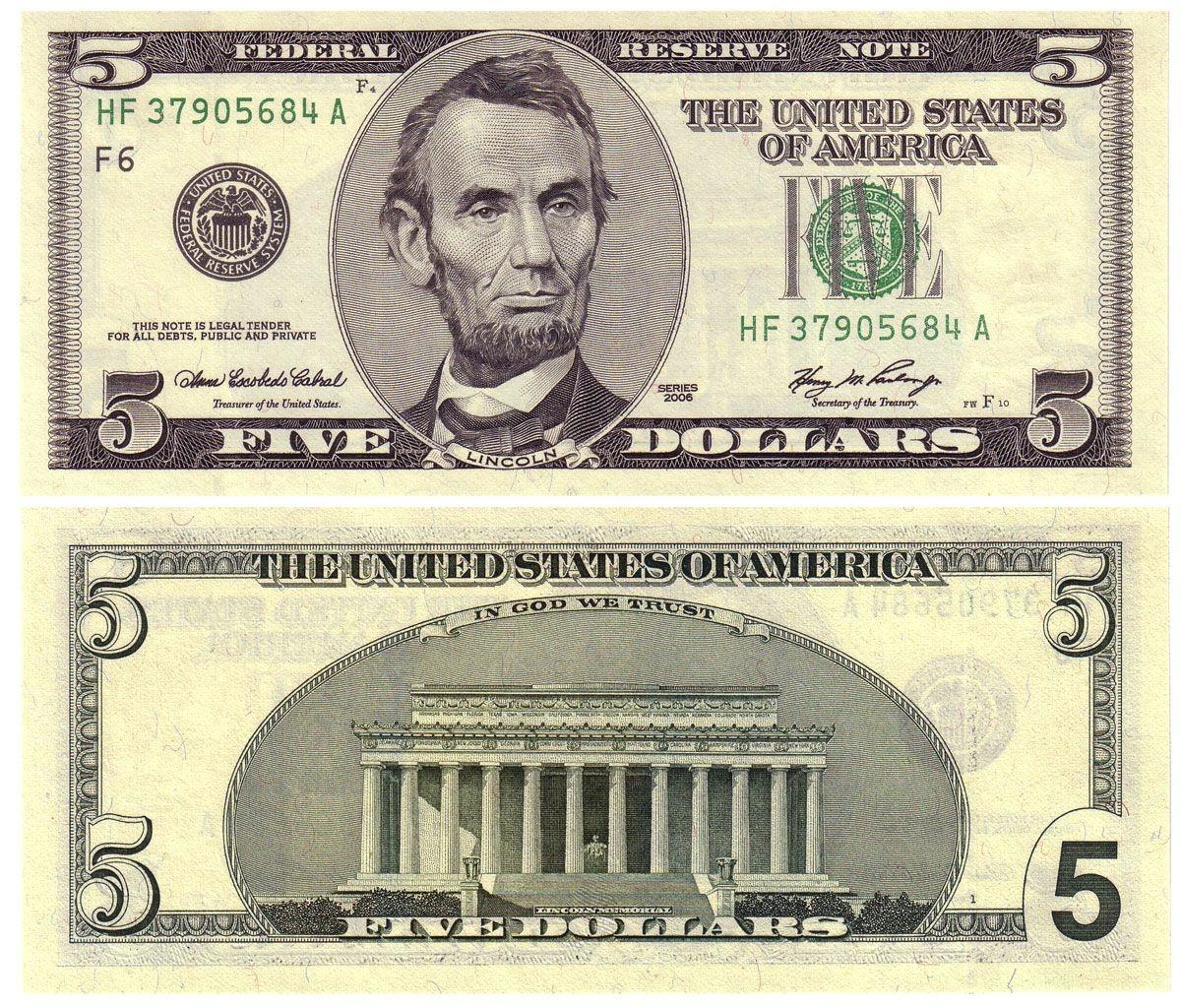 Printable Dollar Bills | 2006 5, Old Style? | Coping Skills | Dollar - Free Printable Us Currency