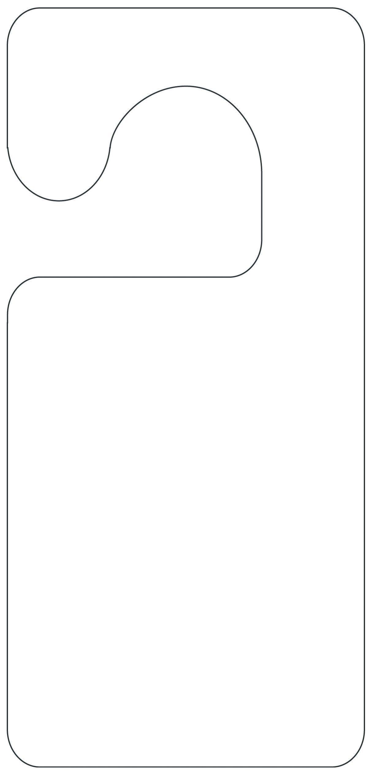 Printable Door Hanger Template | Girl Scouts | Door Hanger Template - Free Printable Door Hanger Template