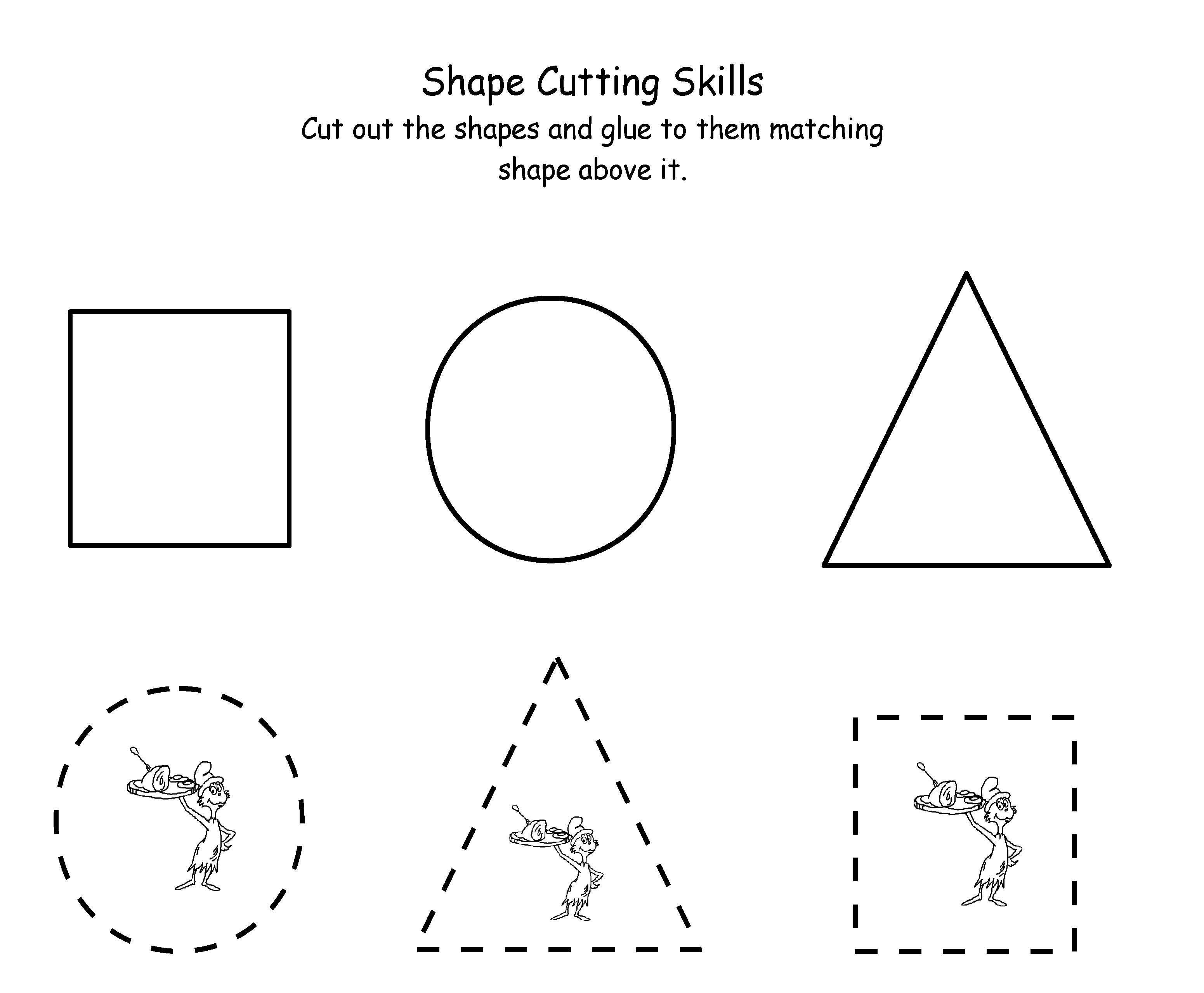 Printable Dr. Seuss Cutting | Maths | Dr Seuss Activities, Scissor - Free Printable Dr Seuss Math Worksheets