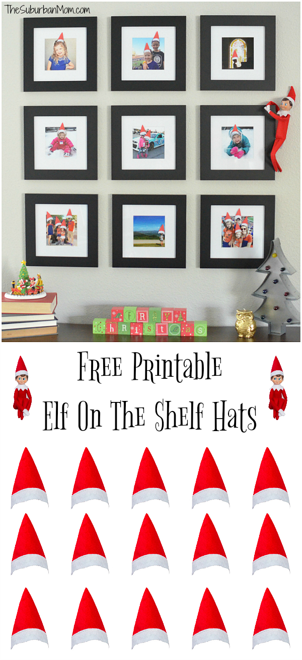 Printable Elf On The Shelf Hats For Family Photos | Elf On The Shelf - Elf On The Shelf Printable Props Free
