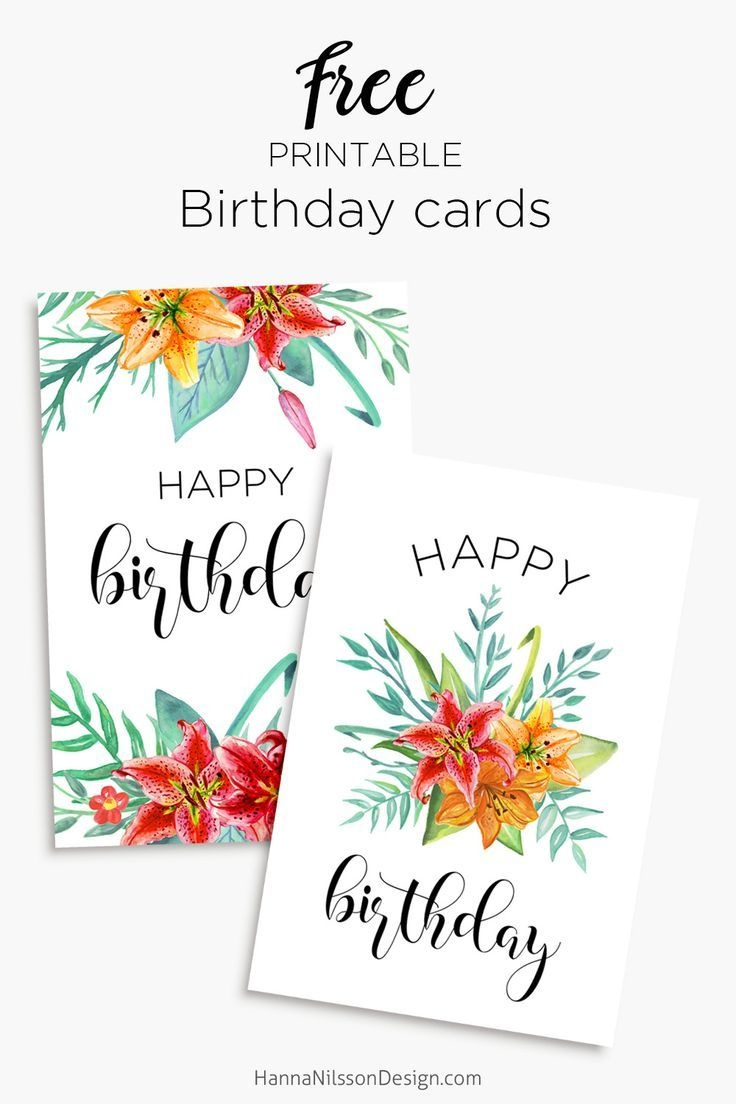 Printable Floral Birthday – Cards, Tags & Gift Box | Birthday Cards - Free Printable Birthday Cards For Mom