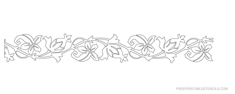 Printable Floral Border Stencils | Free Printable Stencils With - Free Printable Stencils