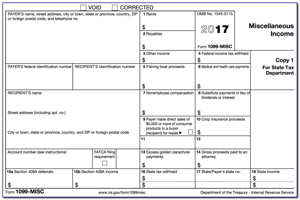 Printable Form 1099 Misc 2016 - Form : Resume Examples #7Ppdpglpne - Free Printable 1099 Form 2016