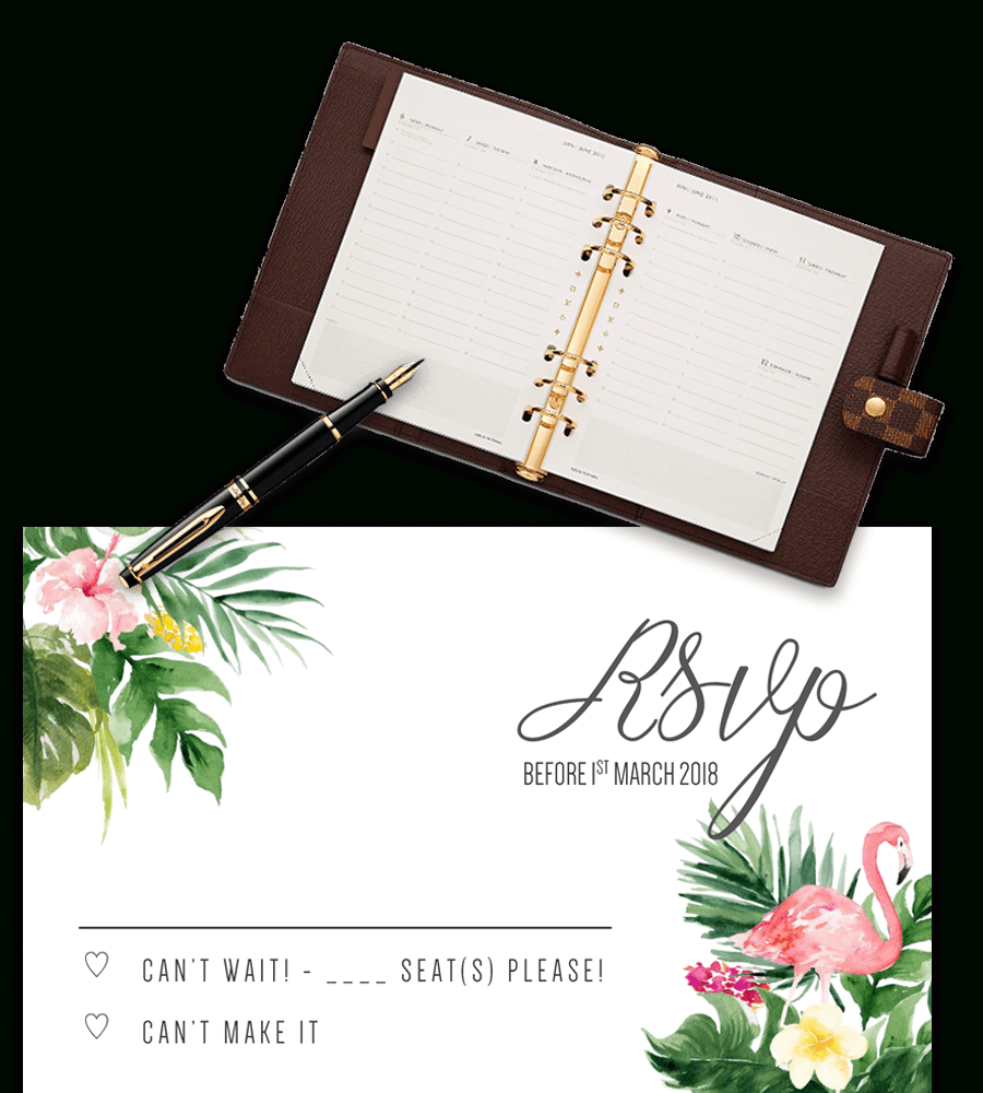 Printable Free Wedding Rsvp Template & Cards Microsoft Word - Free Printable Rsvp