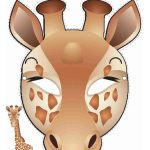 Printable Giraffe Mask | Printable Masks For Kids | Giraffe Costume   Giraffe Mask Template Printable Free