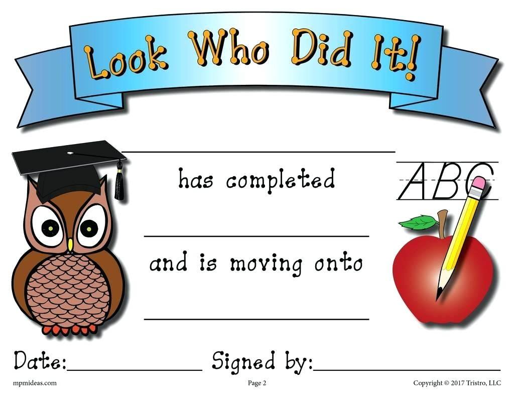 Free Printable Kindergarten Graduation Certificate