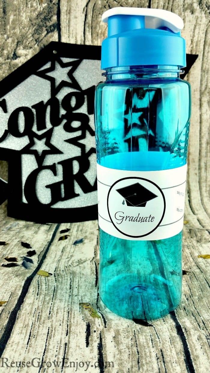 Printable Graduation Water Bottle Label - Reuse Grow Enjoy - Free Printable Water Bottle Labels Graduation