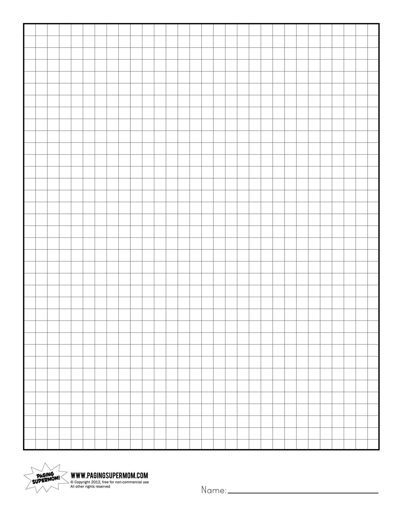 Printable Graph Paper | Healthy Eating | Grid Paper Printable - Free Printable Graph Paper 1 4 Inch