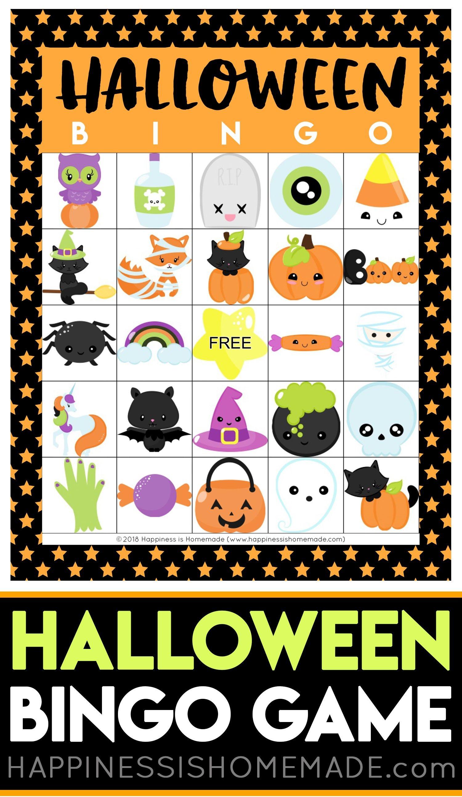Printable Halloween Bingo Cards - This Halloween Bingo Game Is A Ton - Free Printable Halloween Bingo Cards