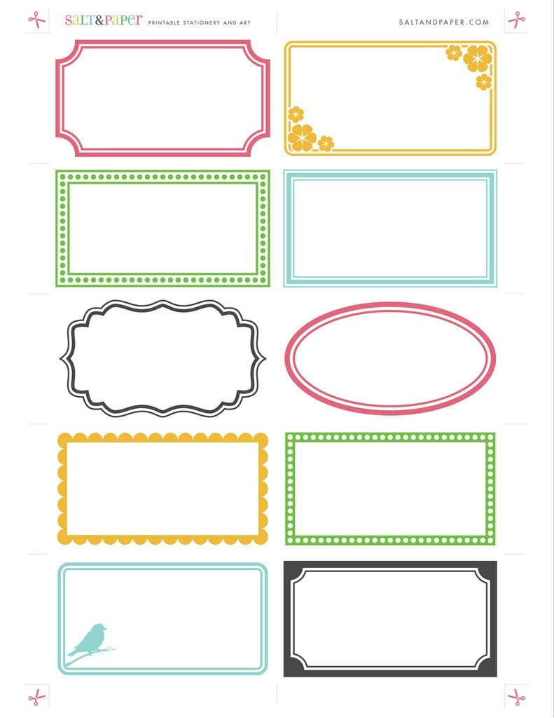 Printable Labels From Saltandpaper | Crafty: Printables - Free Printable Label Templates