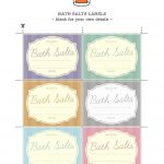 Printable Labels To Help You Organise Your Bath Salts | Essential   Spa In A Jar Free Printable Labels
