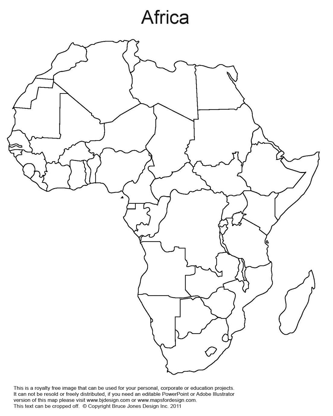 Printable Map Of Africa | Africa World Regional Blank Printable Map - Free Printable Worksheets On Africa