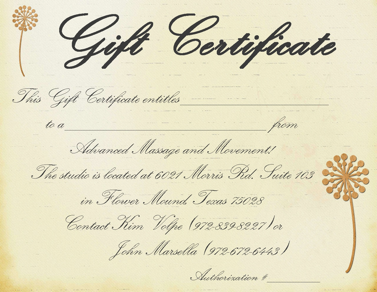 Printable Massage Gift Certificate Template - Free Printable Massage Gift Certificate Templates