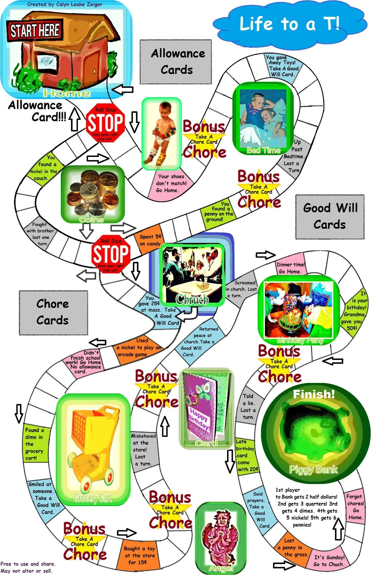 Printable Money Board Game | Crafts | Board Games, Games, Printable - Free Printable Board Games