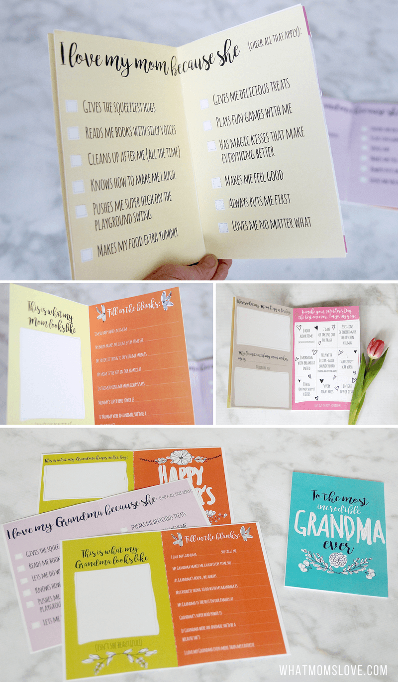 Printable Mother's Day Booklet. Step Up Your Card Game With This - Free Printable Personalized Children's Books