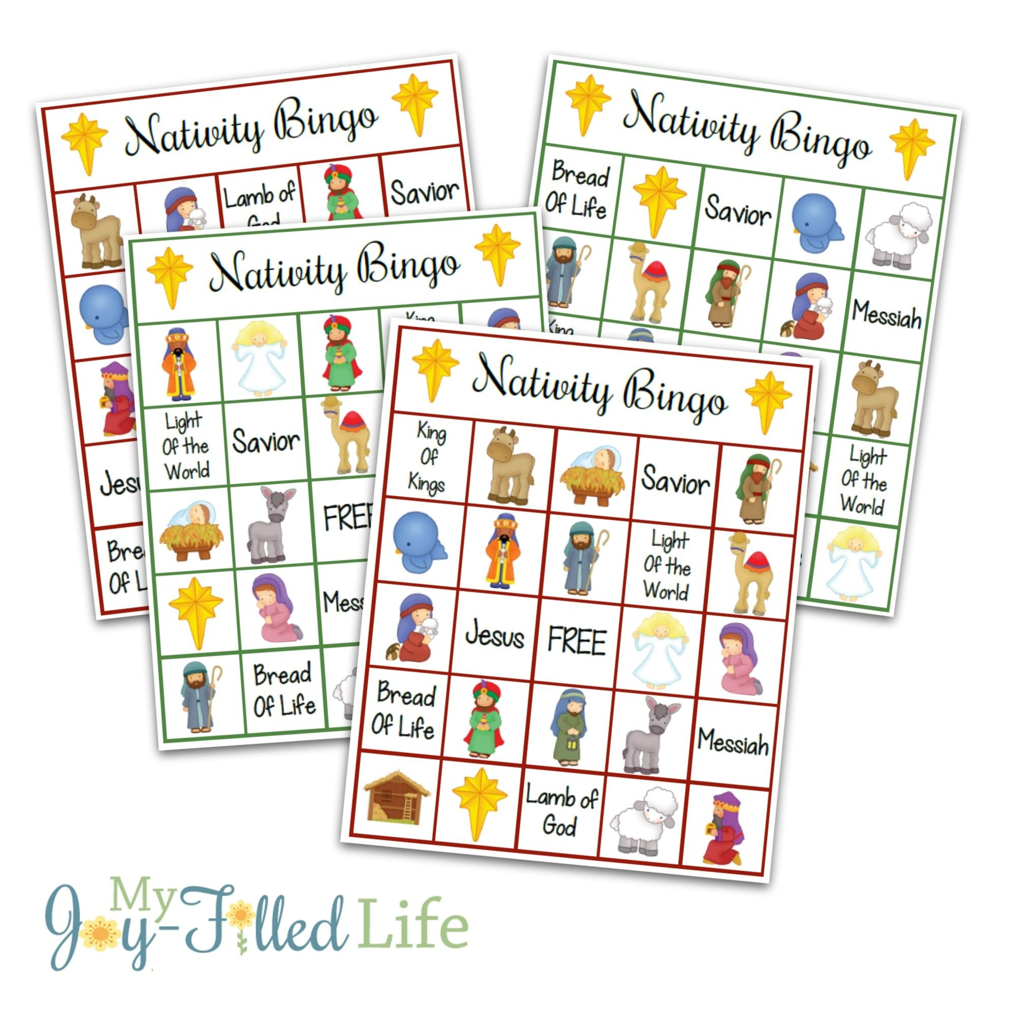 Printable Nativity Bingo Game   Games   Printable Christmas Games - Free Printable Bible Bingo For Preschoolers