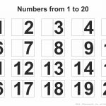 Printable Numbers 1 20   Free Printables   Free Printable Numbers 1 20
