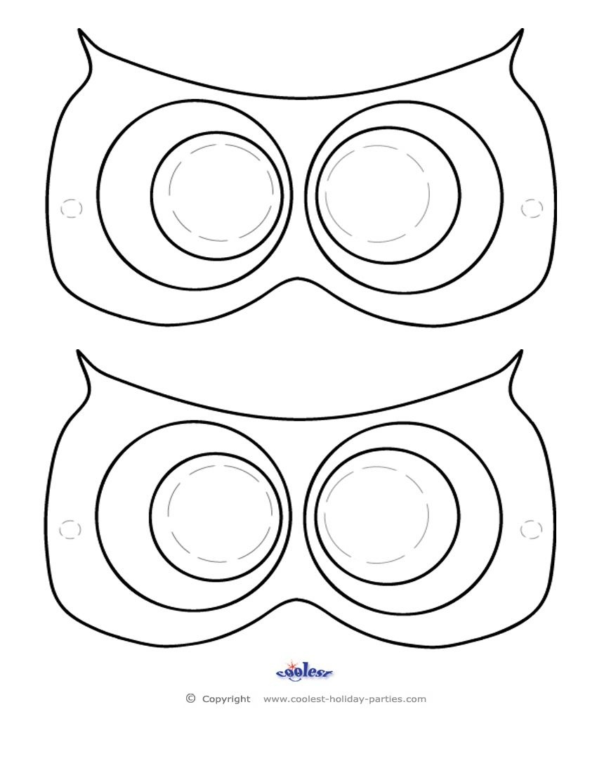 Printable Owl Mask - Coolest Free Printables Don't Forget The Beak - Free Printable Masks