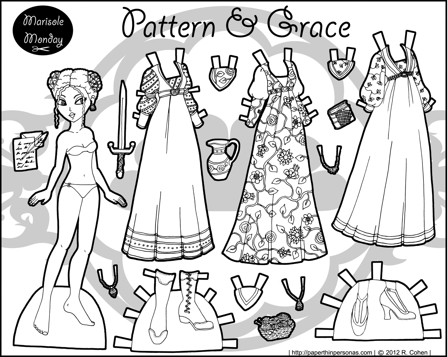 Printable Paper Doll: Maiden Of The North | Craft Ideas | Paper - Printable Paper Dolls To Color Free