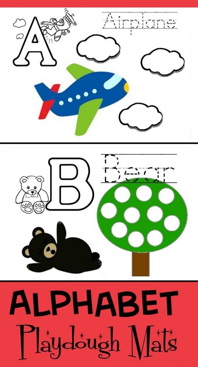 Printable Play Dough Mats: Abc (Entire Alphabet) - Alphabet Playdough Mats Free Printable
