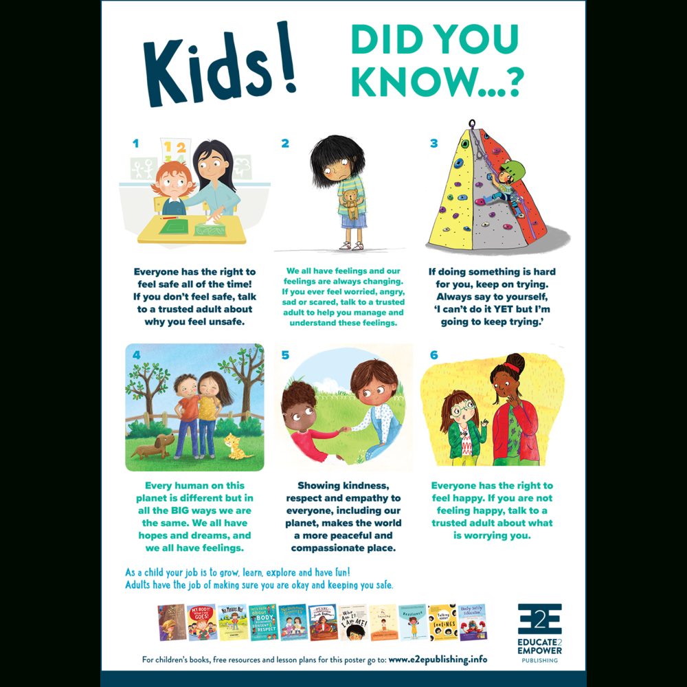 Printable Poster For Empowering Children In Social & Emotional - Free Printable Posters For Teachers