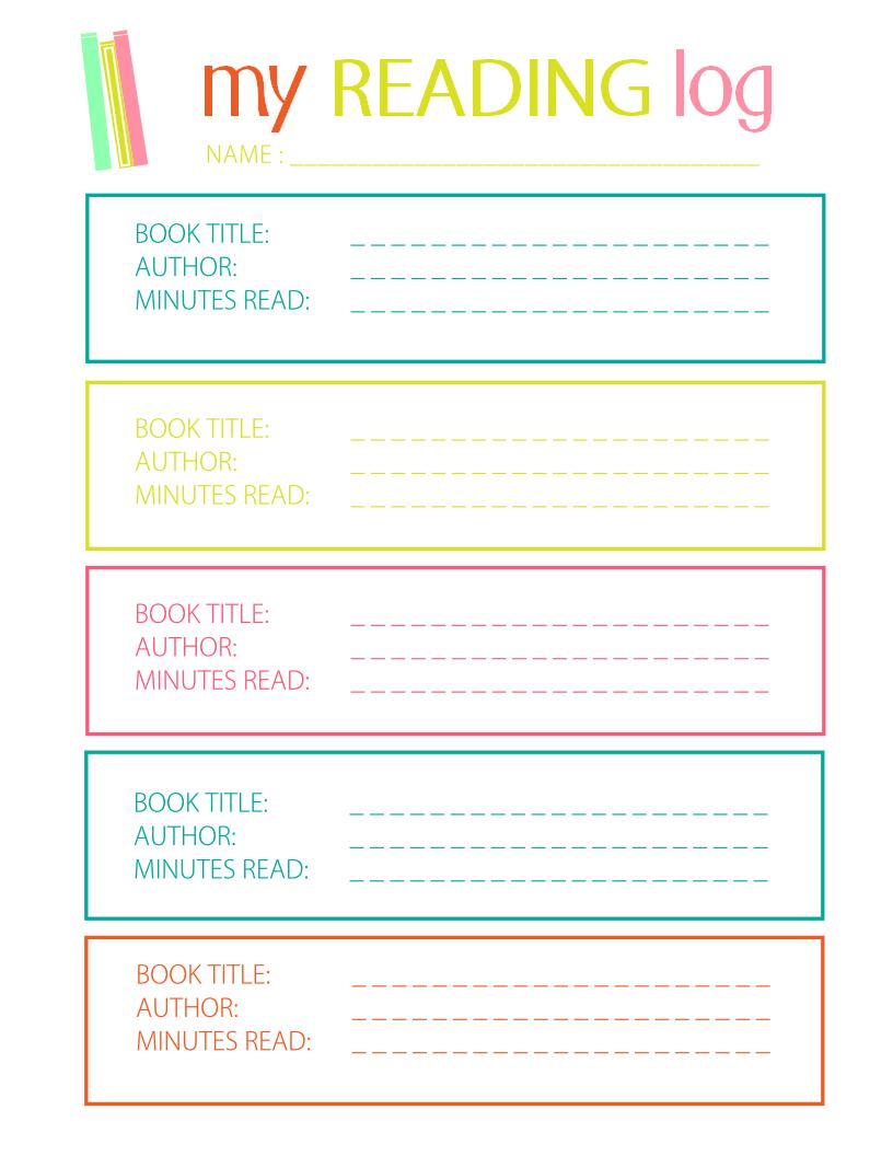 Printable Reading Log For Elementary Kids - Free Printable Reading Logs For Children