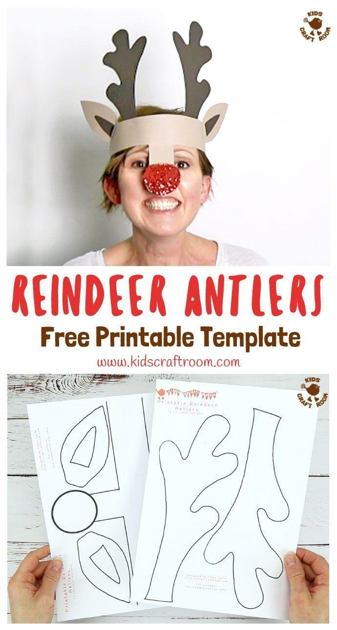 Printable Reindeer Antlers Hat | Printable Crafts | Christmas Crafts - Free Printable Crafts For Preschoolers