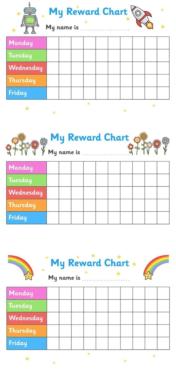 Printable Reward Chart For Teachers Multiple | Projects For Penelope - Free Printable Incentive Charts For Teachers