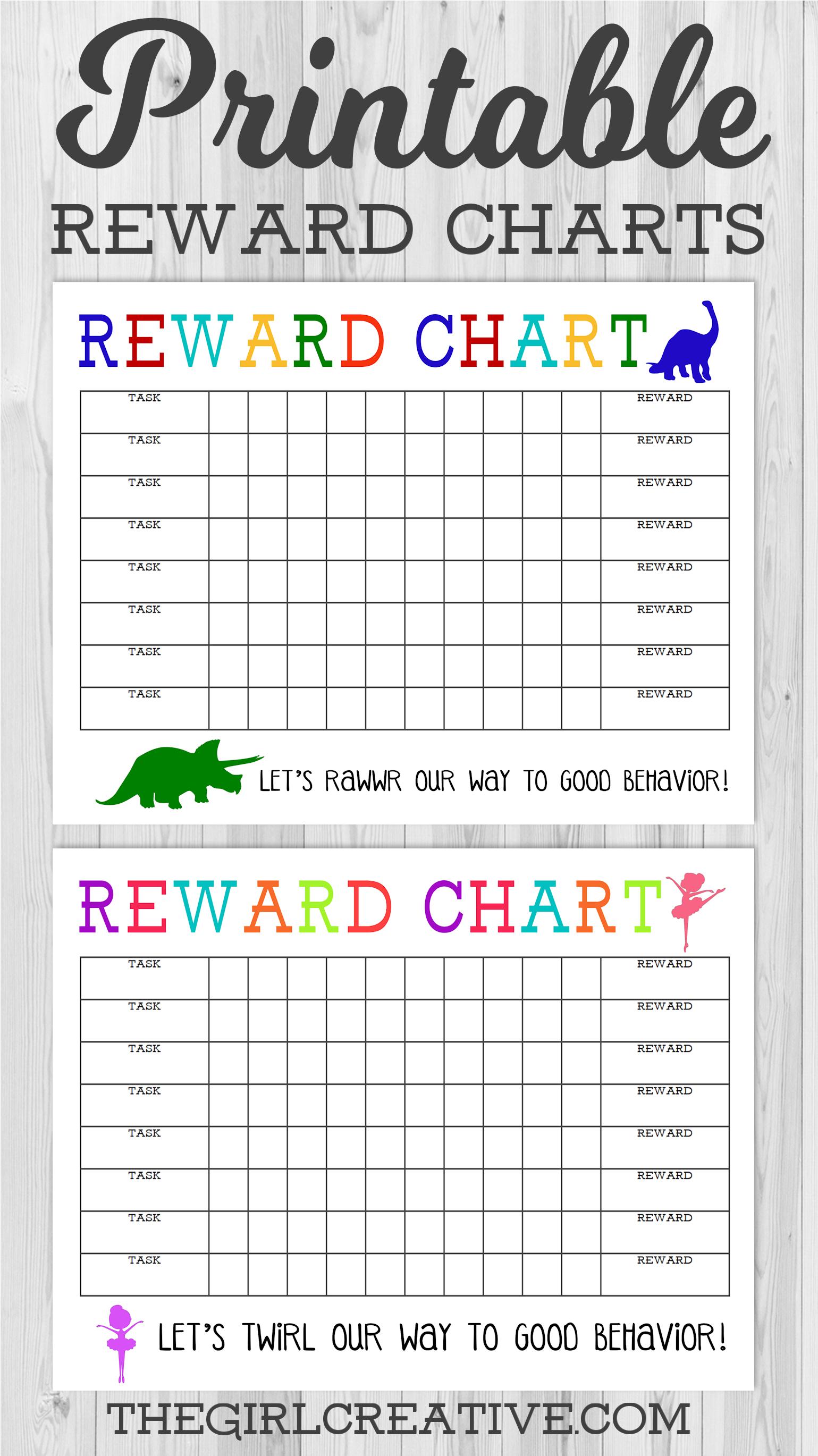 Printable Reward Chart - The Girl Creative - Free Printable Charts For Kids