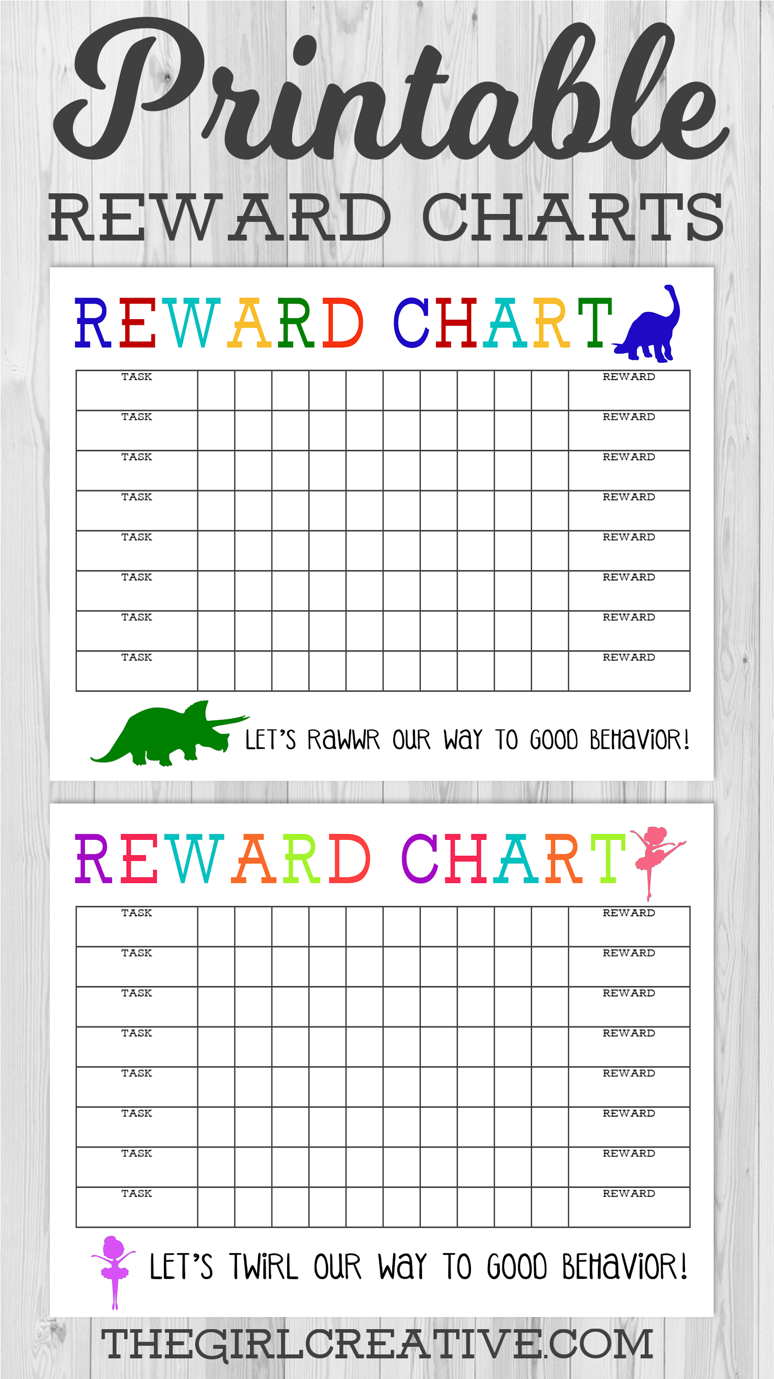 Printable Reward Chart - The Girl Creative - Free Printable Charts