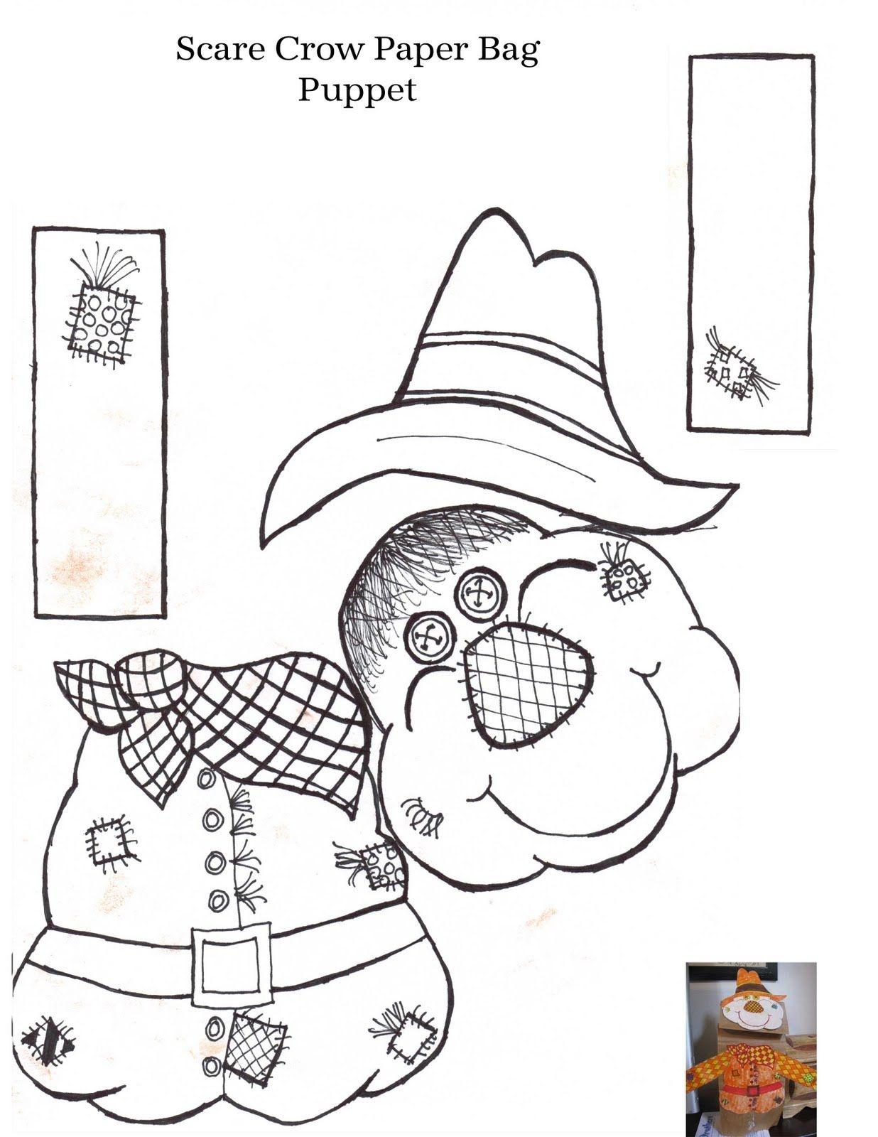 free scarecrow template printable