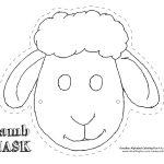 Printable Sheep Mask Template | Art | Sheep Mask, Mask Template   Free Printable Sheep Mask