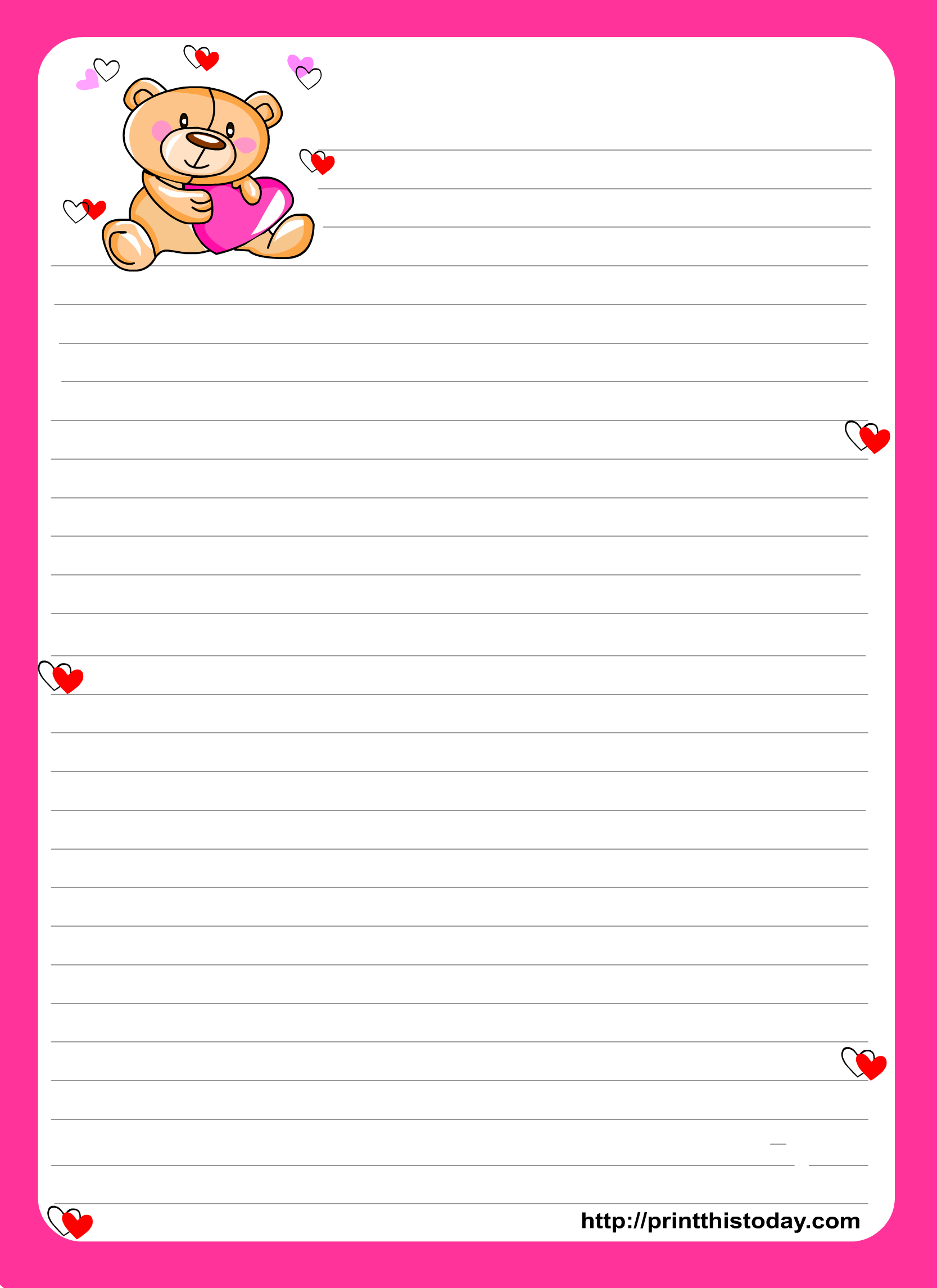 Printable Stationery Paper - Google Search   Stationery - Printables - Free Printable Stationery Writing Paper