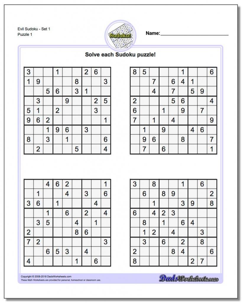 Printable Sudoku Free - Part 50 - Free Printable Sudoku With Answers