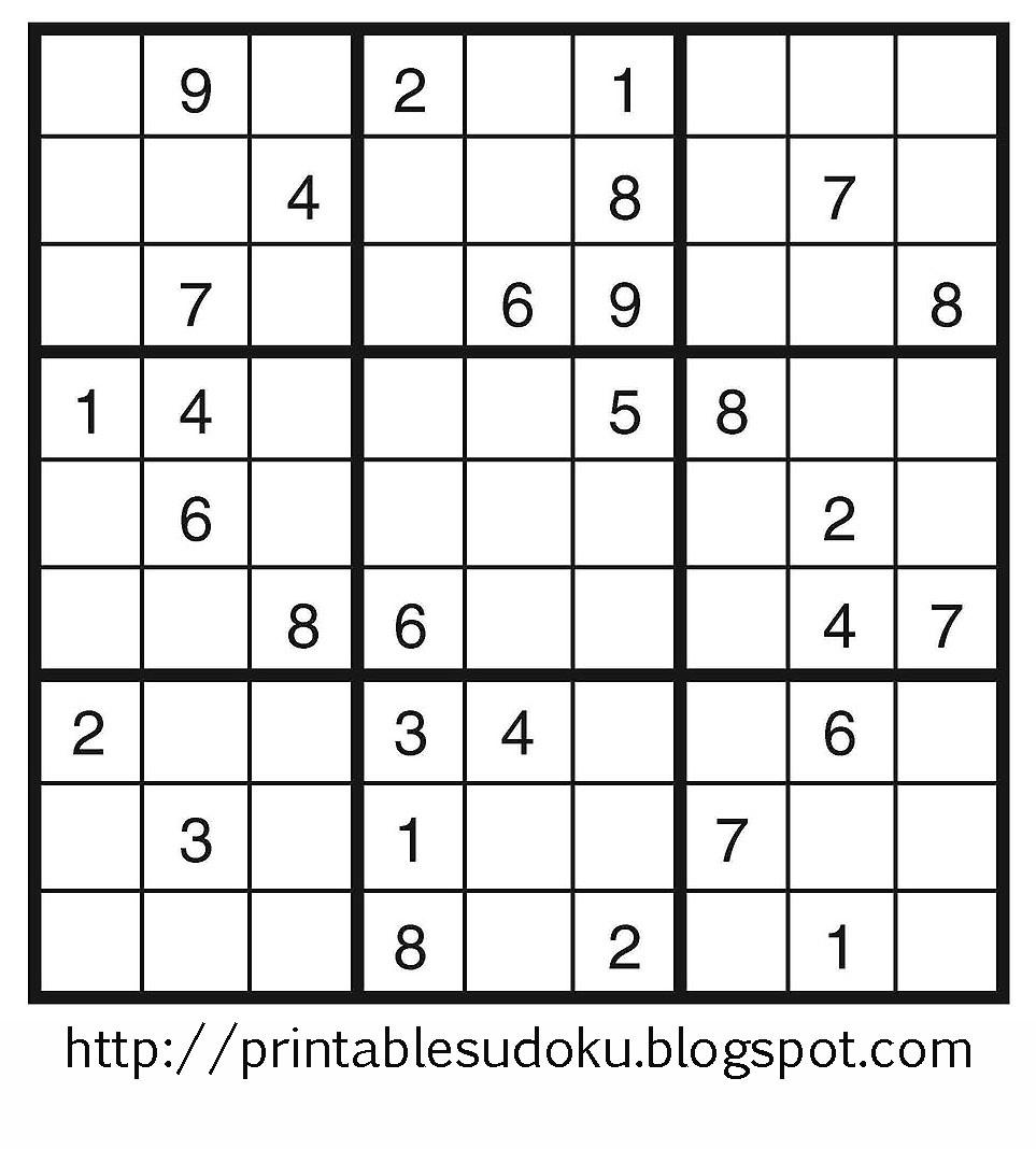 Printable Sudoku - Free Printable Sudoku Puzzles