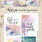 """Printable Sympathy Condolence Cards No.2 Digital Download 3.5""""x5   Free Printable Sympathy Verses"""