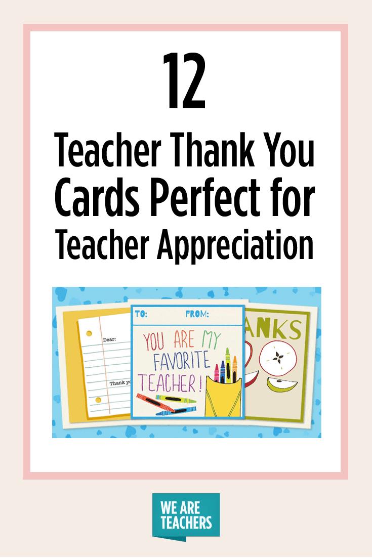 Printable Teacher Thank You Cards For Teacher Appreciation - Free Printable Teacher Appreciation Cards To Color