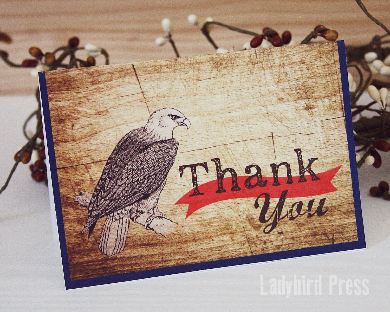 Printable Thank You Card Boy Scout Eagle Thank You Card | Etsy - Eagle Scout Cards Free Printable