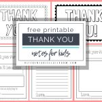 Printable Thank You Cards For Kids   The Kitchen Table Classroom   Thank You Card Free Printable Template