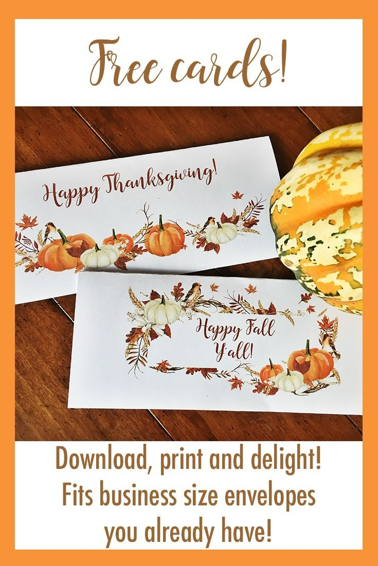 Printable Thanksgiving Cards - Fit In Business Envelopes - Free Printable Thanksgiving Cards