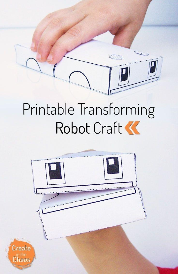 Printable Transforming Robot Craft | Printables | Crafts For Kids - Free Printable Craft Activities
