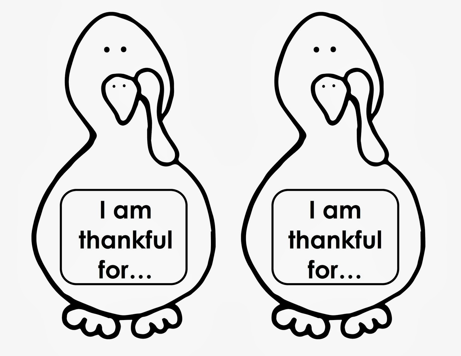 Printable Turkey Templates – Happy Easter & Thanksgiving 2018 - Free Printable Thanksgiving Turkey Template